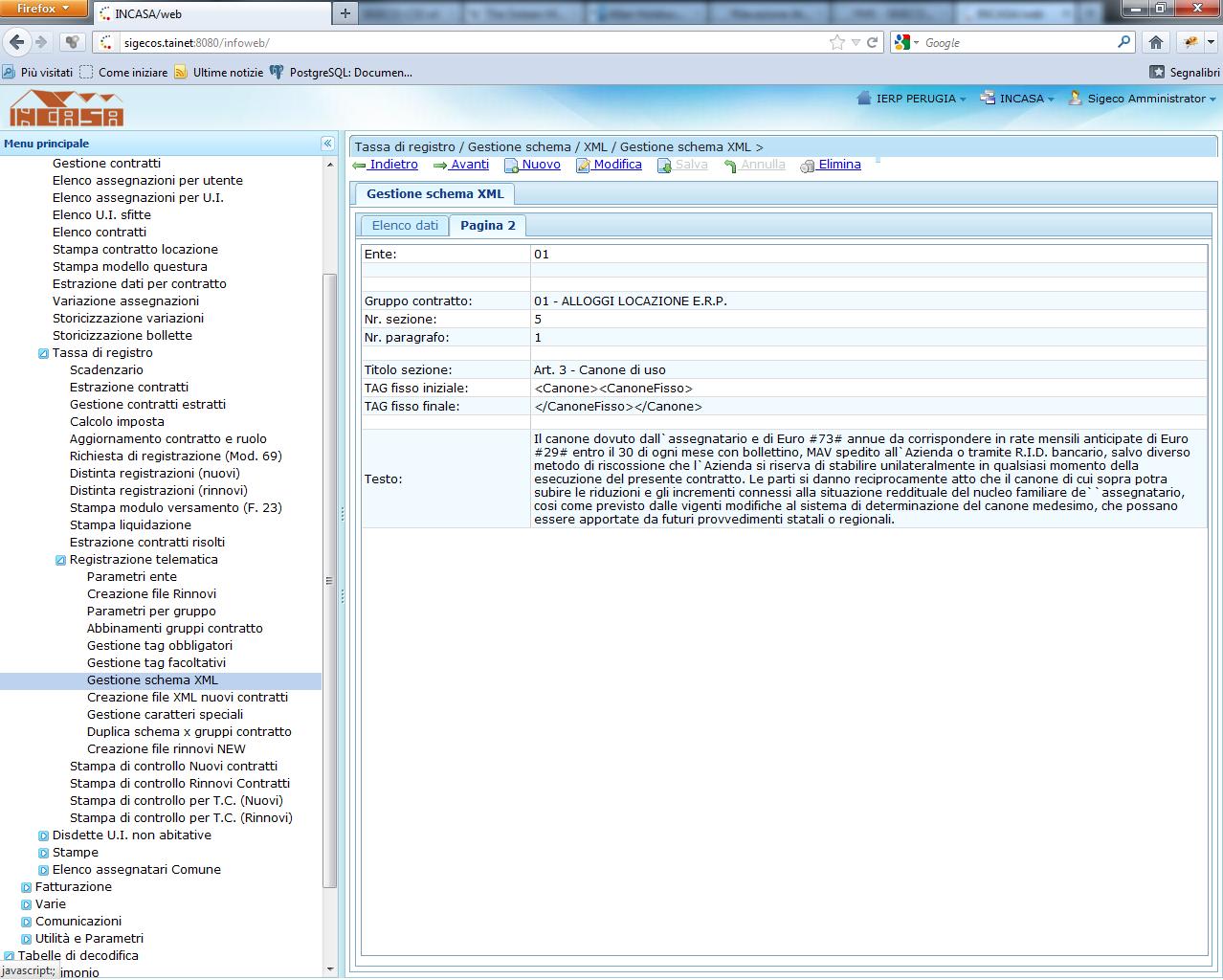Gestione schema XML per procedura Entratel